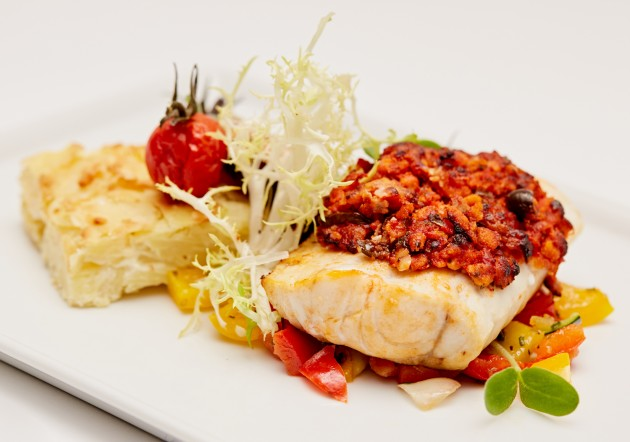 Seelachsfilet Tomate-Olive-Topping
